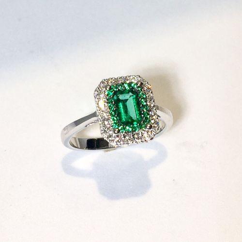 acquisto economico qualità incredibile enorme sconto AA031043SM - D&D Anello smeraldo e brillanti